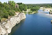 The Gardon River, Pont du Gard, Provence, France