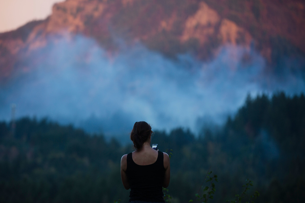 Sept. 12, 2017   Views of The Eagle Creek Fire in the Columbia River Gorge, Oregon seen from WA