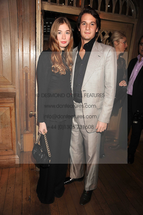 ANOUSHKA BECKWITH and XAN MORGAN at a party to celebrate the launch of Hollywood Domino - a brand new board game, held at Mosimann's 11b West Halkin Street, London on 7th November 2008.  The evening was in aid of Charlize Theron's Africa Outreach Project.