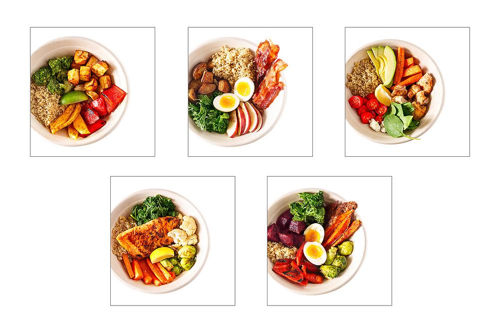 white background food photographer