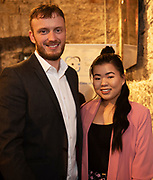 02/04/2019 Repro free:  <br /> Anthony Shaughnessy and Aoife Chang from The Portershed at Harvest in the Mick Lally Theatre , an opportunity to share ideas for innovation and growth and discuss how to cultivate the city as a destination for innovation, hosted by GTC  and Sponsored by AIB and The Sunday Business Post .<br /> <br /> A keynote address Start Up to Multinational - Positioning & Marketing Software for an International Audience from Joe Smyth, VP of R&D at Genesysat Genesys and a Panel Discussion on International Growth Through Innovation and Positioning<br /> Mary Rodgers- Innovation Community Managerat the Portershed (moderator)<br /> Kathryn Harnett- Senior Consultantat Milltown Partners LLP, Giovanni Tummarello, Founder and CPOat Siren,  Mark Quick, Founding Director 9th Impact and Founding Director, Nephin Whiskey, Nicola Barrett, Senior Marketing Managerat Connacht Rugby<br />  Photo: Andrew Downes, Xposure