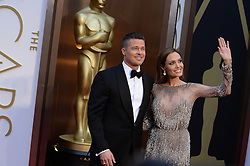 Brad Pitt and Angelina Jolie arriving at the 86th Academy Awards held at the Dolby Theatre in Hollywood, Los Angeles, CA, USA, March 2, 2014. Photo by Lionel Hahn/ABACAPRESS.COM
