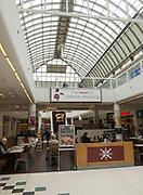 Cafe area inside shopping mall, Brunel Centre, Swindon, Wiltshire, England, UK