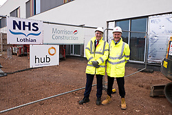 Pictured: The construction has been a joint effort between Hub and Morrison Construction and Hub's Chief Executive Paul McGirk and Morrisons' project Director Phil Galbraith were on hand to provide details of the project to date<br /> <br /> Infrastructure Secretary Michael Matheson visited East Lothian Community Hospital's construction site today to give an update on the Scottish Government's infrastructure programme, on the same day as an annual progress report is published<br /> <br /> Ger Harley   EEm 17 April 2019