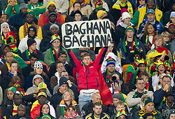 Fans of Ghana during the 2010 FIFA World Cup South Africa Quarter Finals football match between Uruguay and Ghana on July 02, 2010 at Soccer City Stadium in Sowetto, suburb of Johannesburg. Uruguay defeated Ghana after penalty shots. (Photo by Vid Ponikvar / Sportida)