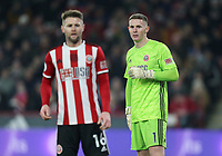 Sheffield United's Dean Henderson (right) and Oliver Norwood<br /> <br /> Photographer Rich Linley/CameraSport<br /> <br /> The Premier League - Sheffield United v Manchester City - Tuesday 21st January 2020 - Bramall Lane - Sheffield<br /> <br /> World Copyright © 2020 CameraSport. All rights reserved. 43 Linden Ave. Countesthorpe. Leicester. England. LE8 5PG - Tel: +44 (0) 116 277 4147 - admin@camerasport.com - www.camerasport.com