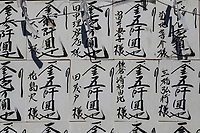 Kanji are Chinese characters that are used in the Japanese writing system, along with syllabic scripts of hiragana and katakana. Traditionally, the characters flow from top to bottom, though modern Japanese writing uses left to right orientation, depending on the circumstances, style and space allocated to the writing or sign.