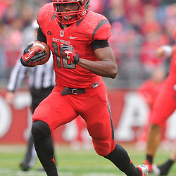 10 November 2012: Rutgers Scarlet Knights wide receiver Jeremy Deering (18) runs after a reception during NCAA college football action between the Rutgers Scarlet Knights and Army Black Knights at High Point Solutions Stadium in Piscataway, N.J..