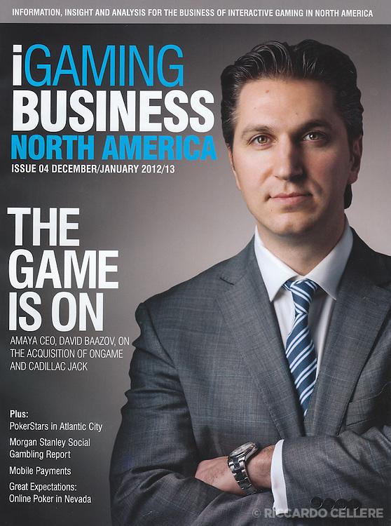 Corporate photography. CEO portrait. David Baazov, Amaya, iGaming Business North America. 2012.