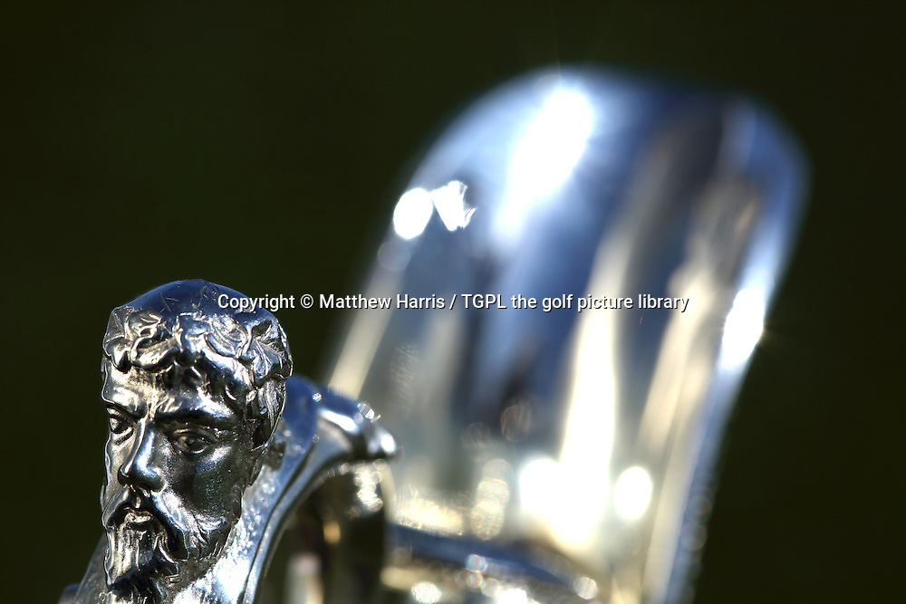 The famous Claret Jug,the trophy presented to the winner of The Open Championship which in 2014 will be at Royal Liverpool, Hoylake, Wirral,England.