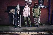Urban ski and lifestyle clothing brand photoshoot for Planks Clothing shot in Manchester, UK during Covid lockdown 2020.