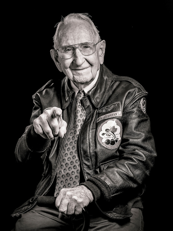 Already a B-17 mechanic, Albert McMahan volunteered to become a tail-gunner, due to a shortage of qualified crewmen.   <br /> <br /> Created by aviation photographer John Slemp of Aerographs Aviation Photography. Clients include Goodyear Aviation Tires, Phillips 66 Aviation Fuels, Smithsonian Air & Space magazine, and The Lindbergh Foundation.  Specialising in high end commercial aviation photography and the supply of aviation stock photography for advertising, corporate, and editorial use.