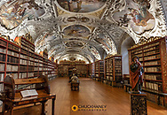 Theological Hall of Strahov Library in Prague, Czech Republic