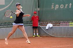 May 16, 2018 - Trnava, Slovakia - JANA FETT of Croatia in her first round match in the Empire Slovak Open tennis tournament in Trnava Slovakia (Credit Image: © Christopher Levy via ZUMA Wire)