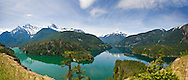 Diablo Lake Panorama in North Cascades National Park.