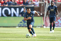 July 28, 2018 - Ann Arbor, Michigan, United States - Forward Alexis Sanchez of Manchester United FC carries the ball up the field of during an International Champions Cup match between Manchester United and Liverpool at Michigan Stadium in Ann Arbor, Michigan USA, on Wednesday, July 28,  2018. (Credit Image: © Amy Lemus/NurPhoto via ZUMA Press)