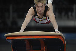 October 11, 2018 - Buenos Aires, Buenos Aires, Argentina - WARD CLAEYS of Belgium competes in Men's Individual All Around Gymnastics on Day 5 of the Buenos Aires 2018 Youth Olympic Games at the Olympic Park. (Credit Image: © Patricio Murphy/ZUMA Wire)