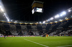 A general view of the pitch at the end of the UEFA Europa League Semi final, first leg match at The Frankfurt Stadion, Frankfurt.
