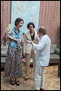 VALERIA NAPOLEONE; MARTINE D'ANGLEJON-CHATILLON, Drinks party to launch this year's Frieze Masters.Hosted by Charles Saumarez Smith and Victoria Siddall<br />  Academicians' room - The Keepers House. Royal Academy. Piccadilly. London. 3 July 2014