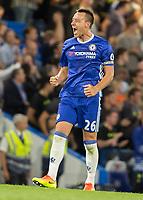 Football - 2016/2017 Premier League - Chelsea V West Ham United. <br /> <br /> John Terry shows sheer elation after securing the win at Stamford Bridge.<br /> <br /> COLORSPORT/DANIEL BEARHAM