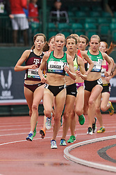 Olympic Trials Eugene 2012: women's 10,000 meter final, Shalane Flanagan leads on way to 3rd place and qualifiying for Olympic team