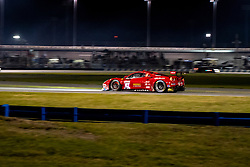 DAYTONA, FLORIDA - JANUARY 25, 2020: Risi Competizione, James Calado, Alessandro Pier Guidi, Davide Rigon and Daniel Serra driving the Ferrari 488 GTE Evo during the 58th running of the IMSA WeatherTech Sports Car Championship Rolex 24 at Daytona International Speedway.