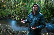 Fisheries scientist on tribal lands of the Skokomish Tribe, western Washington state.