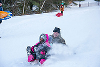 Sledding at Gilford Outing Club.  Karen Bobotas for the Laconia Daily Sun