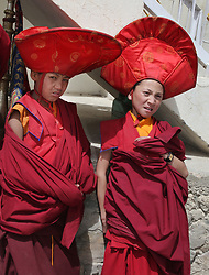 June 23, 2014 - Lamayuru, Ladakh, India - Novice Buddhist monks dressed in ceremonial attire during the Mask Dance Festival at the Lamayuru Monastery (Lamayuru Gompa) in Lamayuru, Ladakh, Jammu and Kashmir, India, on June 23, 2014. (Credit Image: © Creative Touch Imaging Ltd/NurPhoto via ZUMA Press)