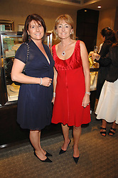 Left to right, sisters COLETTE SCOTT and LORRAINE SPENCER at a n evening of private shopping in aid of Elizabeth Fitzroy Support at Tiffany & Co, 145 Sloane Street, London on 14th May 2008.<br /><br />NON EXCLUSIVE - WORLD RIGHTS