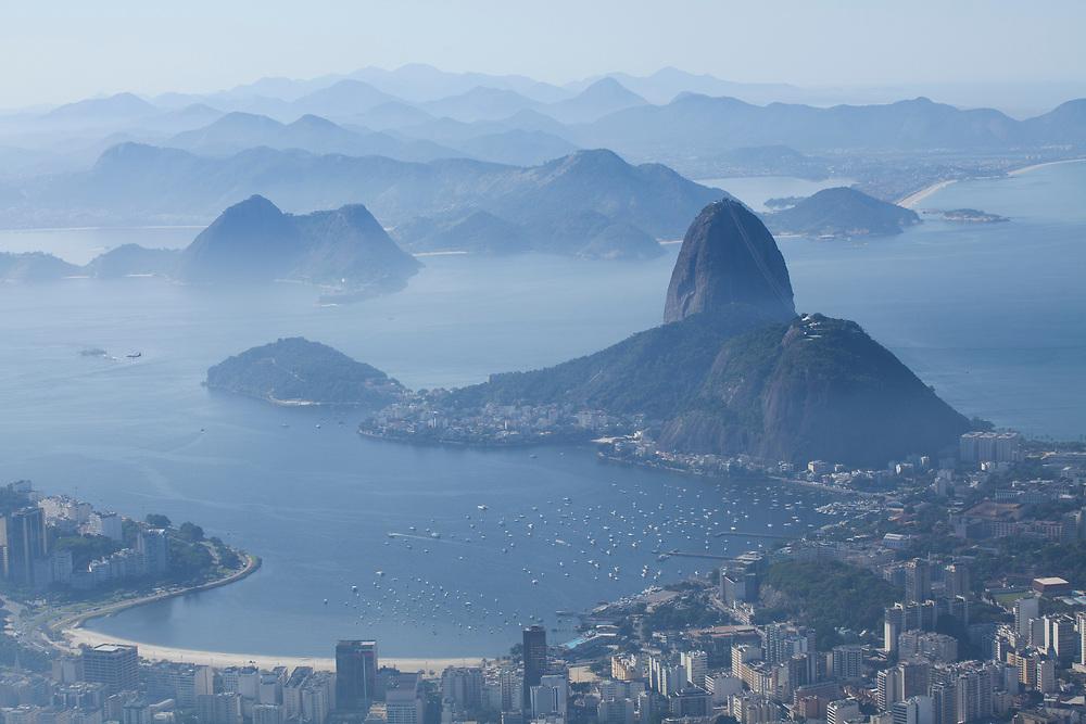 View of Botafogo Bay and Sugarloaf Mountain, Rio de Janeiro as seen from Corcovado Mountain