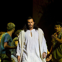 Dress rehersal of the Jesus Christ Superstar musical by Andrew Loyd Webber in Madach Theatre. Budapest, Hungary, Monday, 13. September 2010. ATTILA VOLGYI
