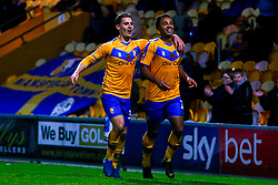 Nicky Maynard and Danny Rose of Mansfield Town celebrates the opening goal - Mandatory by-line: Ryan Crockett/JMP - 09/11/2019 - FOOTBALL - One Call Stadium - Mansfield, England - Mansfield Town v Chorley - Emirates FA Cup first round