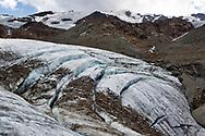 Vista sul ghiacciaio dei Forni. Lombardia, Agosto 2020.