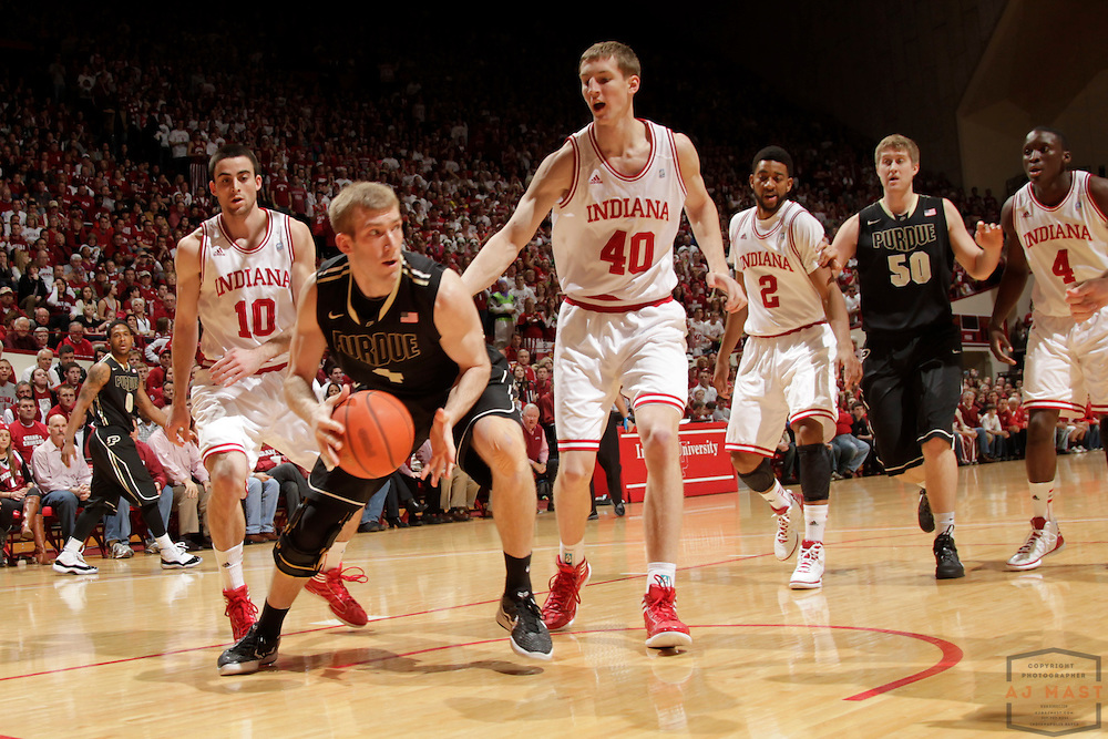 04 March 2012: Purdue Boilermakers forward Robbie Hummel (4) as the Indiana Hoosiers played the Purdue Boilermakers in a college basketball game in Bloomington, Ind.