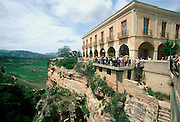 SPAIN, ANDALUSIA, RONDA National Parador above ravine