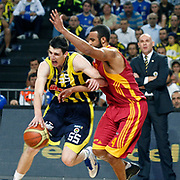 Fenerbahce's Emir PRELDZIC (L) during their Turkish Basketball Legague Play-Off final fifth match Fenerbahce between Galatasaray at the Sinan Erdem Arena in Istanbul Turkey on Tuesday 14 June 2011. Photo by TURKPIX
