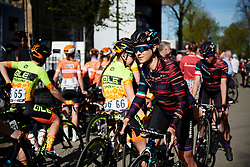 Elena Cecchini (ITA) makes her way to the start line at La Flèche Wallonne Femmes 2018, a 118.5 km road race starting and finishing in Huy on April 18, 2018. Photo by Sean Robinson/Velofocus.com