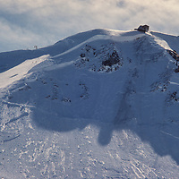 The cornice at Mammoth Mountain after a massive slab avalanche