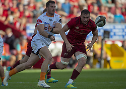 September 1, 2018 - Limerick, Ireland - Shaun Venter of Cheetahs and Tommy O'Donnell of Munster in action during the Guinness PRO14 rugby match between Munster Rugby and Toyota Cheetahs at Thomond Park Stadium in Limerick, Ireland on September 1, 2018  (Credit Image: © Andrew Surma/NurPhoto/ZUMA Press)