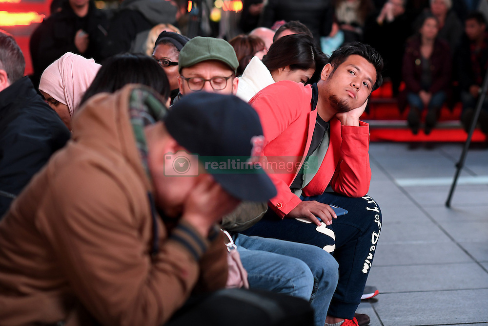 November 9, 2016 - New York, USA - US presidential election night in Times Square, New York. People await the final results on Fox News' screen (Credit Image: © Aftonbladet/IBL via ZUMA Wire)