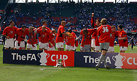 Manchester United celebrate with FA Cup<br />Manchester United v Millwall F/A Cup Final 22/05/04<br />Photo Robin Parker Fotosports International