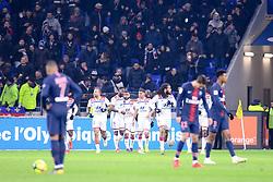 February 3, 2019 - Lyon, France - 11 MEMPHIS DEPAY (OL) - 09 MOUSSA DEMBELE (OL) - 18 NABIL FEKIR (OL) - 08 HOUSSEM AOUAR (OL) - JOIE (Credit Image: © Panoramic via ZUMA Press)