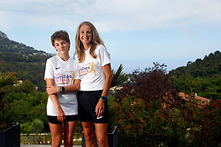 07 July 2021. Nice, France.<br /> At home with British athletics superstar Paula Radcliffe and her daughter Isla who is recovering from a malignant germ cell cancer following chemotherapy. Isla has been incredibly brave since her diagnosis at the beginning of the last school year. Following treatment Isla's cancer is now in remission. She returns to hospital every 3 months for routine check ups to ensure the cancer has not returned. <br /> Photo©; Charlie Varley/varleypix.com