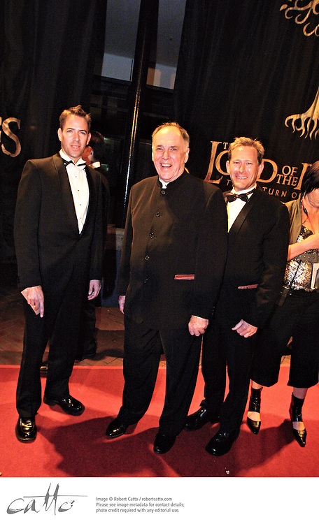 The World Premiere of Peter Jackson's The Lord Of The Rings: Return Of The King was held in Wellington on Dec 1, 2003 on a red carpet that ran for several blocks through the city to the Embassy Theatre.  Cast in attendance included Elijah Wood, Sir Ian McKellen, Viggo Mortensen, Orlando Bloom, Hugo Weaving, Liv Tyler, Billy Boyd, John Rhys-Davies, Andy Serkis, Bernard Hill, Dominic Monaghan and Sean Astin.
