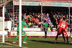 Bristol City's Luke Ayling scores a goal. - Photo mandatory by-line: Dougie Allward/JMP - Mobile: 07966 386802 - 07/03/2015 - SPORT - Football - Crawley - Broadfield Stadium - Crawley Town v Bristol City - Sky Bet League One