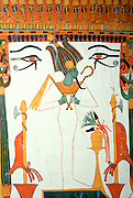 EGYPT, THEBES, WEST BANK Sennedjem Tomb; Osiris God of Underworld
