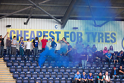 Queen of the South's fans.<br /> Falkirk 1 v 1 Queen of the South, Scottish Championship game played today at The Falkirk Stadium.
