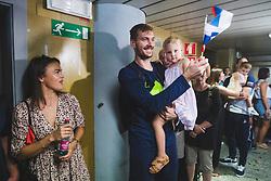 Zoran Dragic during arrival of Slovenian national team from Tokio 2020 Olympic games, 8. August 2021, Airport Jozeta Pucnika, Ljubljana, Slovenia. Photo by Grega Valancic