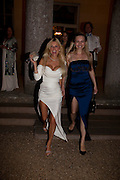 MARIA DYKALO-BURTON; LANA HOLLOWAY;, The Goodwood Ball. In aid of Gt. Ormond St. hospital. Goodwood House. 27 July 2011. <br /> <br />  , -DO NOT ARCHIVE-© Copyright Photograph by Dafydd Jones. 248 Clapham Rd. London SW9 0PZ. Tel 0207 820 0771. www.dafjones.com.